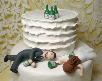 drunk bride wedding cake toppers custom wedding cake topper by bluebutterflydesign on 13762