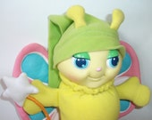 Vintage Hasbro Glo Butterly Glow Worm GloWorm Plush Doll 1985 Rare