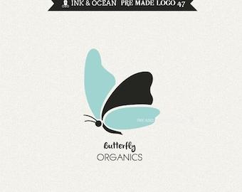 Boutique premade logo design for your business - butterly, organics logo