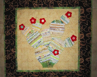 TEXAS CACTUS Selvage Applique Quilt from Quilts by Elena Wall Hanging Table Runner