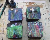 Set of 4 Coasters based on paintings by Richard Friend