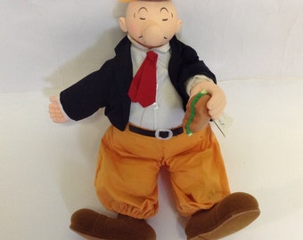 1985 Vintage Wimpy doll with tags  Popeye