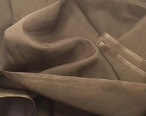 CHOCOLATE BROWN Silk and Cotton Batiste Fabric - 1 Yard