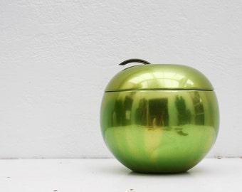 SALE     iconic vintage apollo studios green apple ice bucket / retro ice bucket / c. 1920s barware