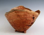 Artistic Natural Bark Edge Maple Burl Wood Turned Bowl - Men or Women - Kitchen and Gourmet - Sculptures - Wedding Gift - Housewarming Gift