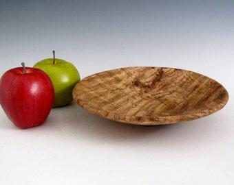 Rustic Round Oak Burl Wood Turned Bowl - Wedding Gift - Housewarming Gift