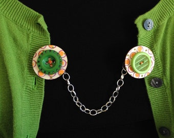 orange and lime sweater clip