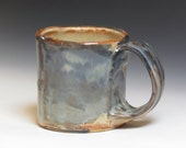 warm sea blue handmade diner style mug