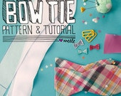 bow tie pattern & tutorial digital pdf // bow tie instant download pattern //  freestyle bow tie pattern // multiple sizes