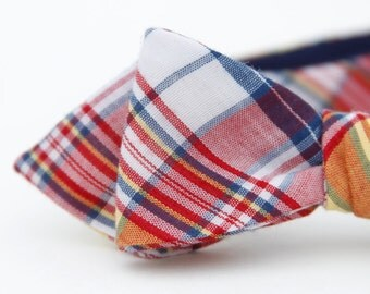 hometown plaid freestyle bow tie
