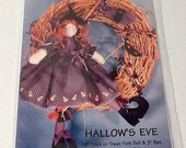Halloween Witch  Doll Pattern, uncut