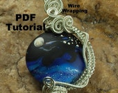 Wire Wrapping Tutorial, Silver Wire Wrapped Pendant, Wire Tutorial, Pendant, PDF File, Moonscape T127 by CC Design