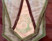 "Banner Bag - ""Tree of Life"" -Embroidered Celtic Medieval Purse"