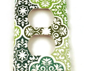 Switchplates Light Switch Cover Wall Decor  Outlet Cover Plate in Verde (213O)