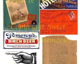 This Way Digital Collage Sheet