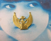 Natural Raw Brass Egyptian Goddess Isis Pendant Connector 275RAW x1