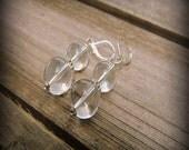 Looking Glass, Western Cowgirl Southwestern Boho Clear Crystal Danggle Drop Earrings