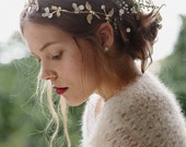 Wedding enamel flower crown bridal halo - Meadow no. 2091