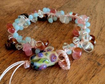 Gemstone and Crystal Handmade Bracelet