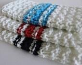 BABY Washcloth - French Stripe - Set of 3