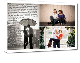 Gift for couple Photo Collage Canvas Word Collage Custom Wedding Gift add custom quotes 12x16