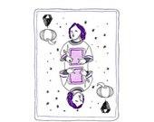DIAMONDS face cards notecards