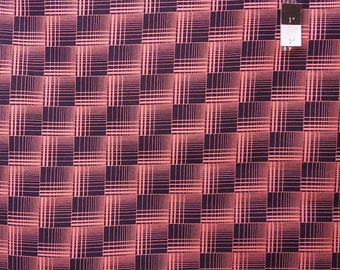 Denyse Schmidt DS12 Greenfield Hill Griswold Plaid Cranberry Cotton Fabric 1 Yard