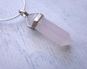 Grey Agate Point Pendant Necklace