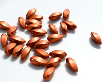 Matte Copper 12x6mm Twisted Talon Beads   25