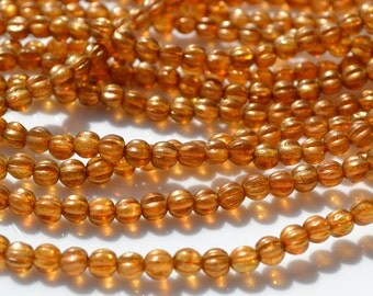 Sandalwood 5mm melon beads  50