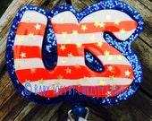 July Patriotism Badge Holder - Seasonal
