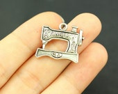 12 Sewing Machine Charms Pendant Antique Silver Tone - SC676