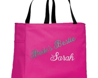 Personalized Tote Bags for Brides, Bridesmaids, Maid of Honor, Bridal Gifts