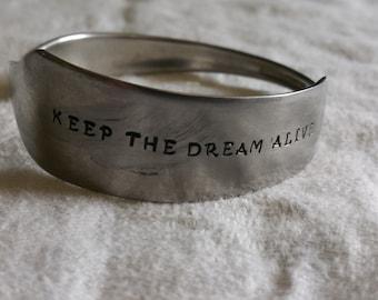 Keep the dream alive knife bracelet