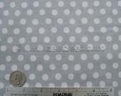 Kaffe Fassett SPOT Silver - Cotton Quilt Fabric by the Yard, Half Yard, or Fat Quarter Fq Grey Gray Spots