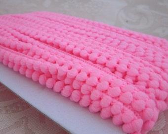 Hot Pink Mini Pompom Trim