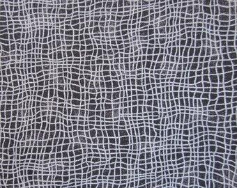 Black and Grey Net Pattern Cotton Fat Quarter