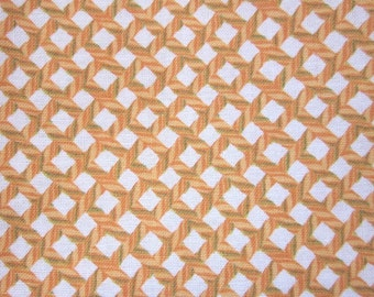 Gold and White Rope Weave Pattern Cotton Fat Quarter