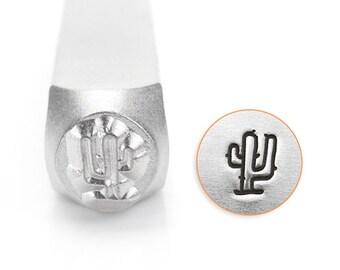 Cactus Design Stamp, Metal Stamp, Carbon Steel Stamp, ImpressArt Stamp, SC1524-A-6MM, Saguaro Cactus Design Stamp, Desert Stamp, Bopper