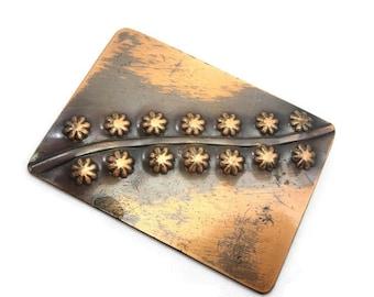 Copper Jewelry - Mid Century Modern Brooch by REBAJES
