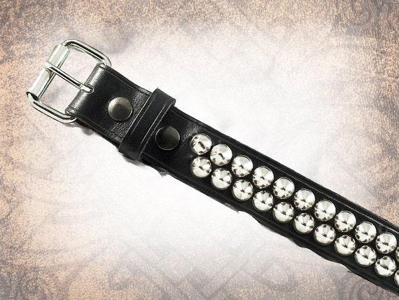 Conical Stud Belt - Steel - Studded Leather Belt, Studded Belt, Leather Belt, Mens Leather Belt, Women's Leather Belt, Belt