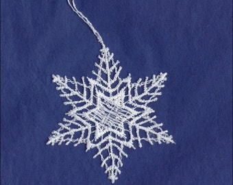 Germany Woven Cotton Thread Christmas Snowflake Ornament For Crafting  LHS0013