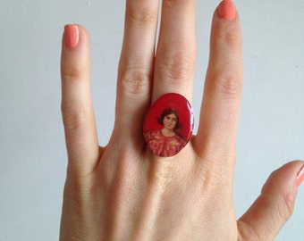 Hand-painted Cooper Gotch Ring