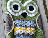 Owl Cocoon Baby Set, Blanket and Hat, Baby Sack, made to order