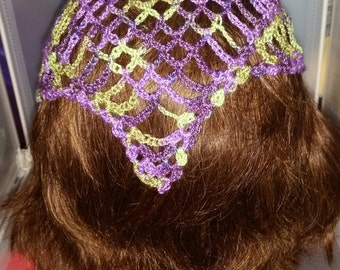 Head Scarf, Summer Head Wear, Head Kerchief, made to order