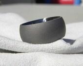 Ring, Titanium Ring or Wedding Band Wide Sandblasted Ring