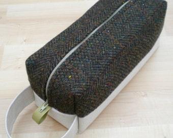 Marc Jacobs Wool Tweed Lg CA Roll (toiletries or carry-all bag)