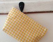 Beth's Small Gingham Oilcloth Cosmetic Bag