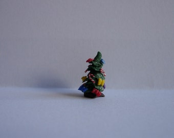 144th scale dolls house miniature dressed Christmas tree