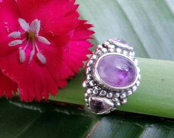 Vintage Cape Amethyst Sterling Silver Ring